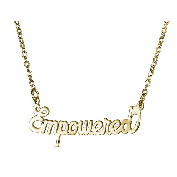 Ari&Lia Empowered Name Necklaces Empowered Name Necklace