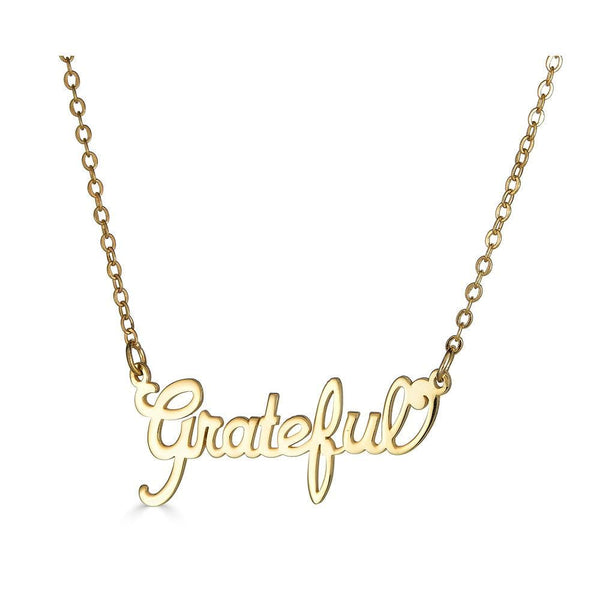 Ari&Lia Empowered Name Necklaces Grateful Empowered Name Necklace