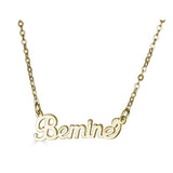 Ari&Lia Empowered Name Necklaces Gold Plated Bemine Empowered Name Necklace NP90580-BEMINE-2-GPSS
