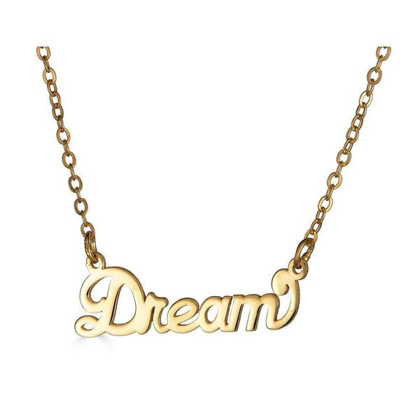 Ari&Lia Empowered Name Necklaces Gold Plated Dream Empowered Name Necklace NP90580-DREAM-GPSS