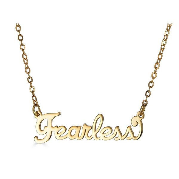 Ari&Lia Empowered Name Necklaces Gold Plated Fearless Empowered Name Necklace NP90580-FEARLESS-2-GPSS