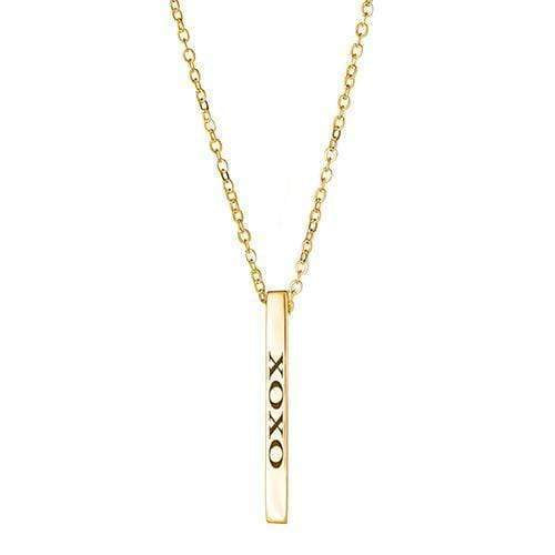 Ari&Lia Empowered Vertical Bars Gold Plated Xoxo Empowered Vertical Bar NP-LONGBAR-XOXO-GPSS