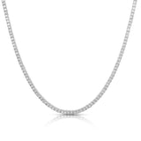 Ari&Lia PAPERCLIP COLLECTION Tennis Necklace with Cubic Zirconia