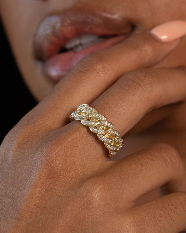 Ari&Lia Rings Curb Link With Cubic Zirconia Ring