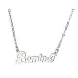 Ari&Lia Empowered Name Necklaces Silver Plated Bemine Empowered Name Necklace NP90580-BEMINE-1-SS