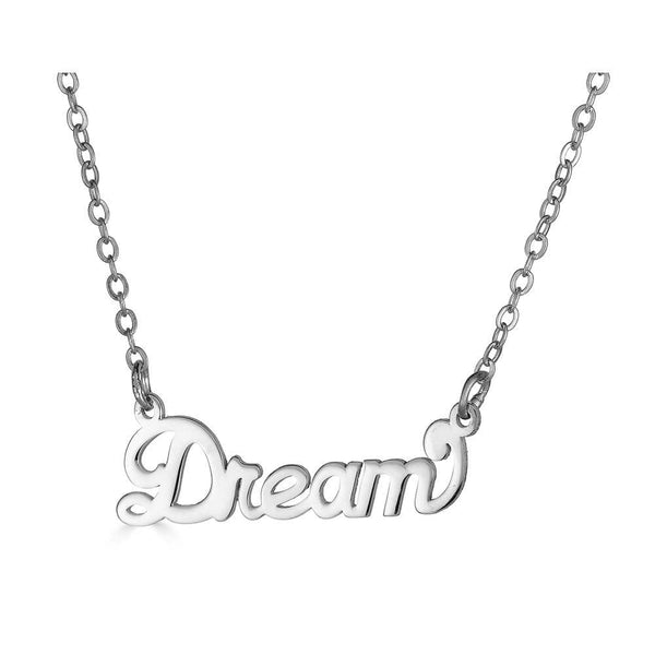 Ari&Lia Empowered Name Necklaces Silver Plated Dream Empowered Name Necklace NP90580-DREAM-SS