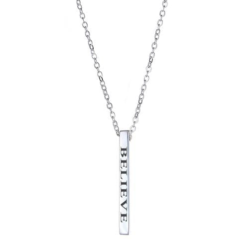 Ari&Lia Empowered Vertical Bars Silver Plated Believe Empowered Vertical Bar NP-LONGBAR-BELIEVE-SS