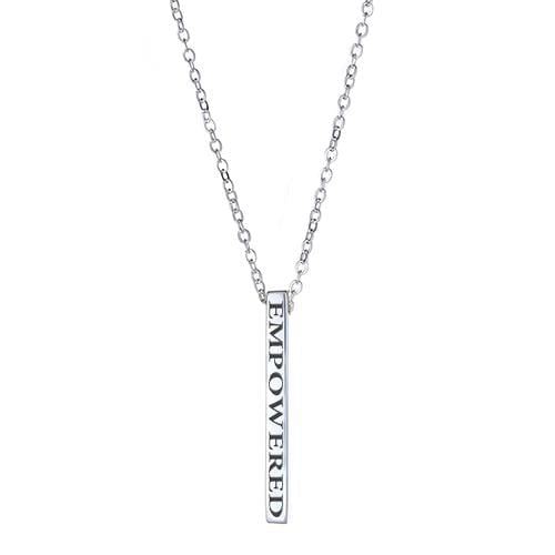 Ari&Lia Empowered Vertical Bars Silver Plated Empowered Vertical Bar NP-LONGBAR-EMPOWERED-SS