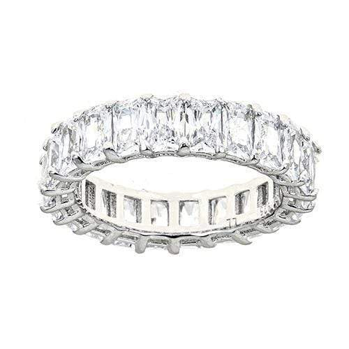 Ari&Lia Rings Silver Plated White Diamond Cz Eternity Ring eternity ring clear