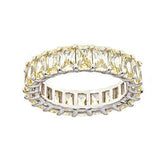 Ari&Lia Rings Silver Plated Yellow Diamond Cz Eternity Ring ETERNITY_YELLOW
