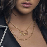 Ari&Lia Single Celebrity Inspired Double Chain Name Necklace