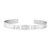 Ari&Lia Delicate Sterling Silver Customize Cz Bangle ZB5036-CZ-SS
