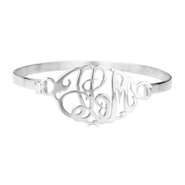 Ari&Lia Delicate Sterling Silver Monogram Bangle ZB30533-SS