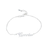 Ari&Lia Delicate Sterling Silver Script High Polish Name Bracelet NB90580-SS