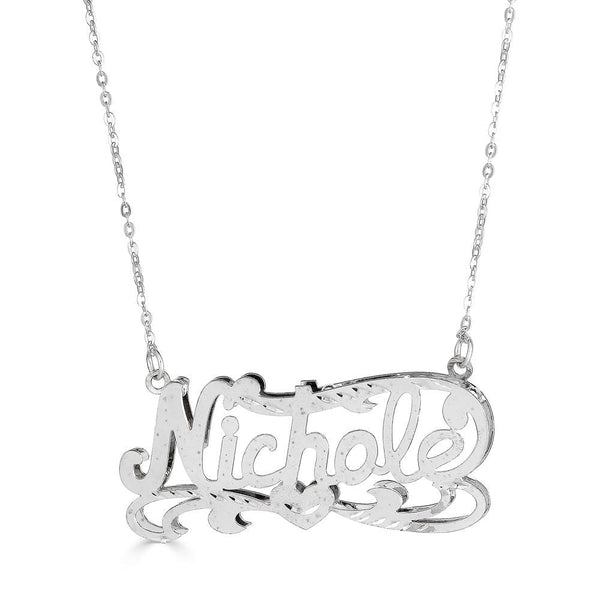 Ari&Lia Double Plated Necklaces Sterling Silver Double Plated Name Necklace NP90587-SS