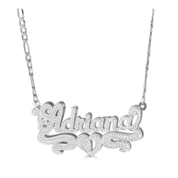 Ari&Lia Double Plated Necklaces Sterling Silver Double Plated With Diamond Accent NP90474-SS