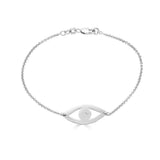 Ari&Lia Sterling Silver Evil Eye Bracelet With CZ 10010-SS