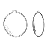 Ari&Lia Hoop Earrings Sterling Silver Block Letter Inside Hoop Name Earrings NE91368-SS