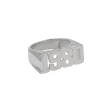 Ari&Lia MENS Sterling Silver 1980 Men's Ring 1980-SS