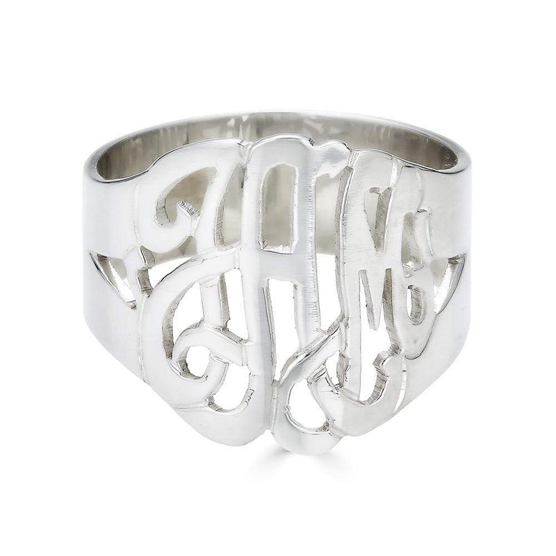 Ari&Lia Rings Sterling Silver Script Monogram Ring 1334-SS
