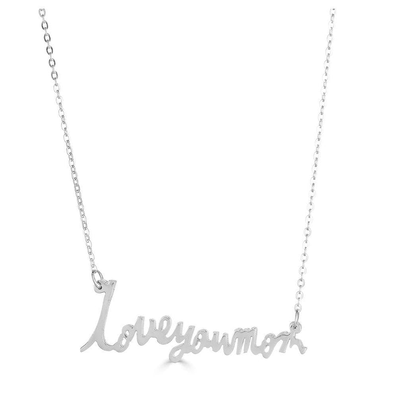 Ari&Lia Single & Trendy Sterling Silver Signature Necklace with Link Chain NP5047-SS