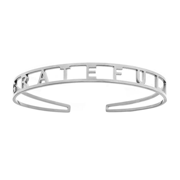 Ari&Lia Empowered Bangles white Grateful Adjustable Empowered Bangle ST5059-GRATEFUL