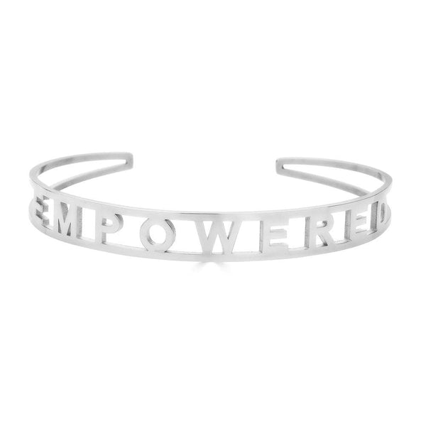 Ari&Lia Empowered Bangles White Stackable Empowered Bangle ST5059-EMPOWERED
