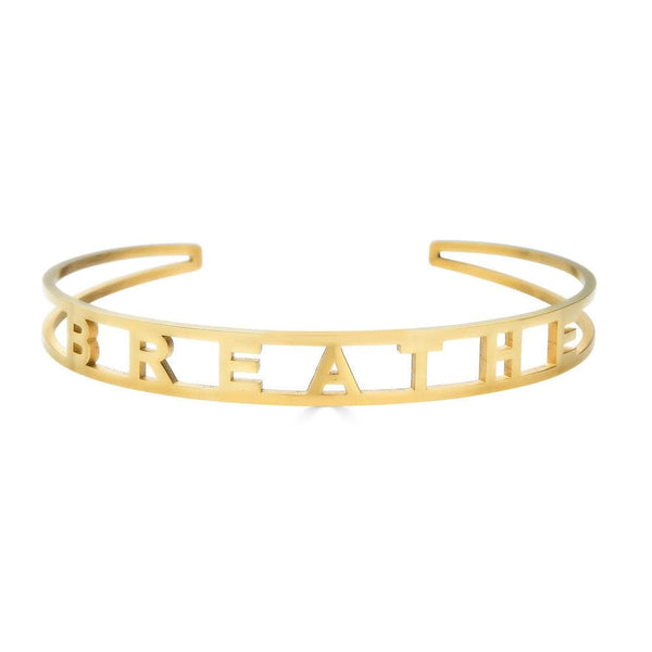 Ari&Lia Empowered Bangles Yellow Breathe Adjustable Empowered Bangle ST5059-BREATHE