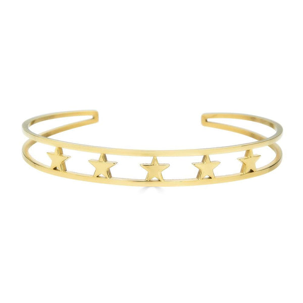 Ari&Lia Empowered Bangles Yellow Five Stars Empowered Cuff Bangle ST5059-5 STARS-GPSS