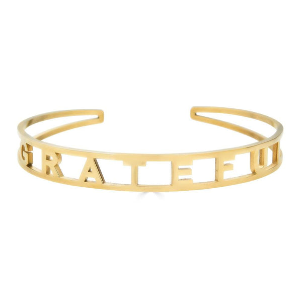 Ari&Lia Empowered Bangles yellow Grateful Adjustable Empowered Bangle ST5059-GRATEFUL