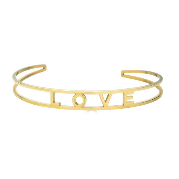 Ari&Lia Empowered Bangles Yellow Love Adjustable Empowered Bangle ST5059-LOVE