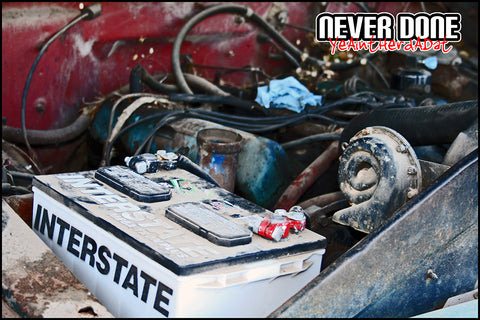 Insterstate battery in old Ford truck
