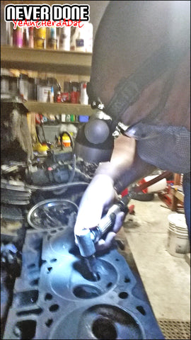 Clint Grover porting a set of big block ford D3VE heads