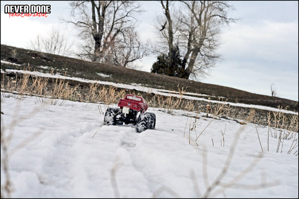 HPI Wheely King snow tracks