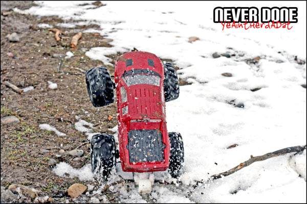 Snow Wheelie in HPI Wheely King - Never Done - Clint Grover