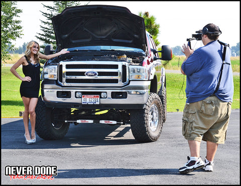 behind the scenes at Nitrous 101 video with Jeff Thompson and Never Done Girl Becca