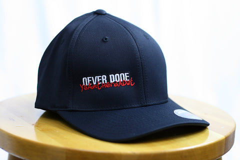 Black fitted Never Done hat