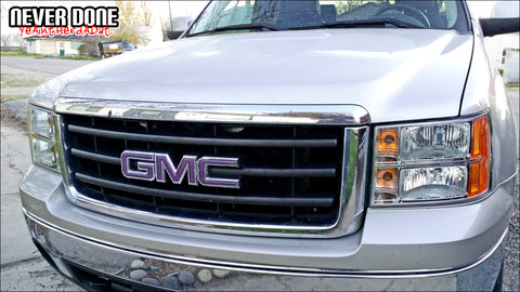 Purple GMC emblem 2007 Silverado - Clint Grover - Never Done