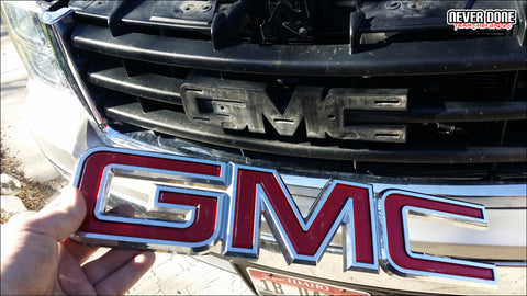 GMC emblem removal - Never Done - Clint Grover