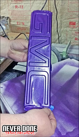 Purple GMC emblem plasti-dip - Clint Grover - Never Done
