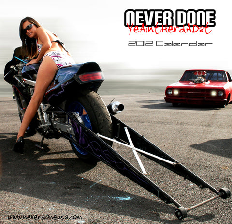 Never Done Girl Mandy with a pro street El Camino and Drag Bullet Bike