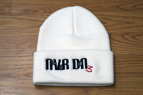 White Never Done Beanie N3V3R DON3