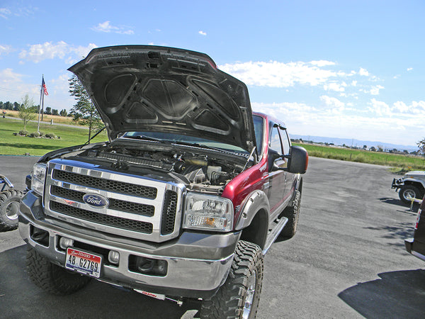 2005 F350 Super Duty V10 engine bay with NX Nitrous - Never Done