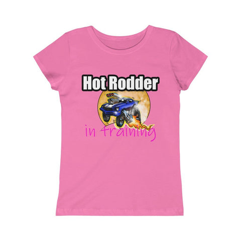 Hot Rodder In Training Girls Princess Tee