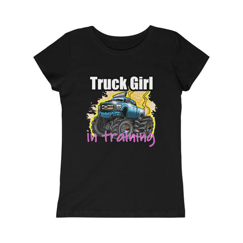 Truck Girl In Training Girls Princess Tee