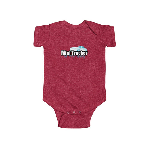 Boys Mini Trucker In Training Onesie