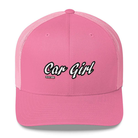 Pink Car Girl Trucker Hat - Never Done