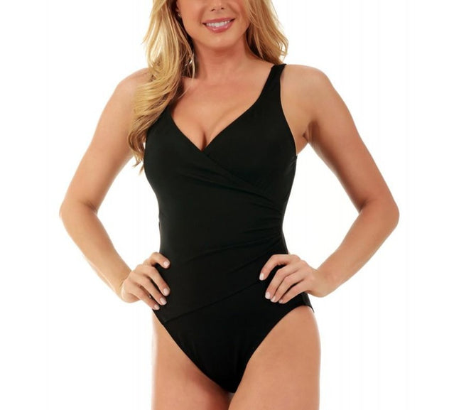 InstantFigure Wrap One-Piece Swimsuit 13443P