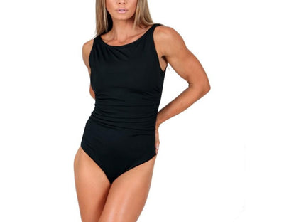 InstantFigure High-Neck One-Piece Swimsuit 13591P