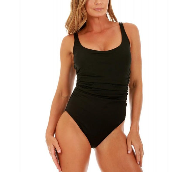 InstantFigure Swimsuit Scoop with shirred side One-Piece 13592P